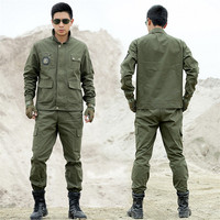 Outdoors Tactical Military Uniform Clothing CS Combat Uniform Army Military Men's Jacket+Pants Work Clothes Camouflage