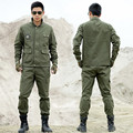 Outdoors Tactical Military Uniform Hunting Clothing CS Combat Uniform Army Military Men's Jacket+Pants Work Clothes Camouflage