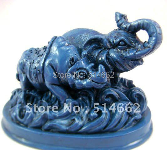 Buy feng shui blue elephant statue for - Feng shui elephant placement ...
