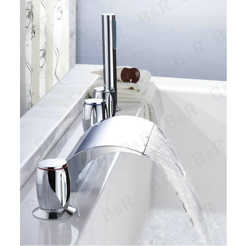 Bakala cascade baignoire robinet salle de bains baignoire mitigeurs avec douche main 5 pi ces ensemble Résultat Supérieur 18 Incroyable Baignoire Avec Robinet Galerie 2018 Hiw6
