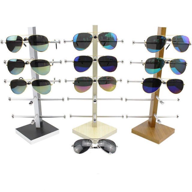 94d44ec793 Gafas de sol de madera con ramas de Metal para gafas de sol con soporte de  ...