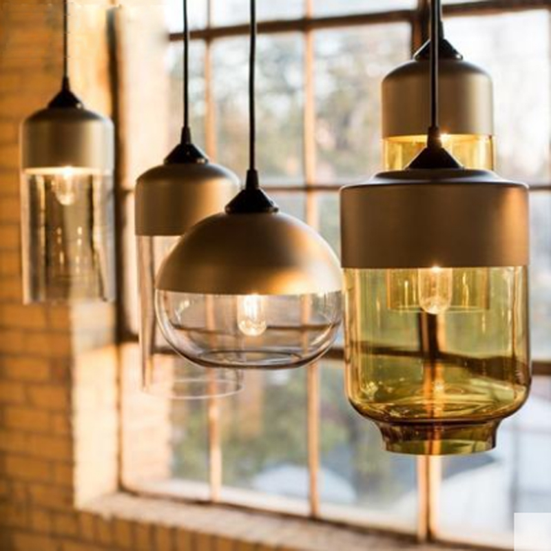 Modern Nordic Globe Pendant Lights Decoration Deco Glass Ball Pendant Lamp E27 Suspension Clear Glass Hanging lamp glass deco r g6