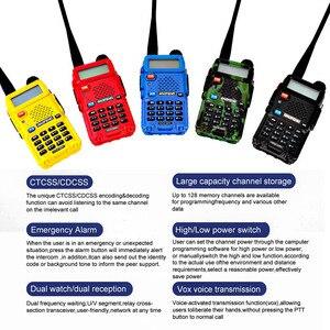 """Image 2 - מקצועי מכשיר קשר 10 ק""""מ UHF VHF 5W UV 5R uv עם פנס VOX FM CB משדר 2 דרך רדיו communicator baofeng uv5r"""