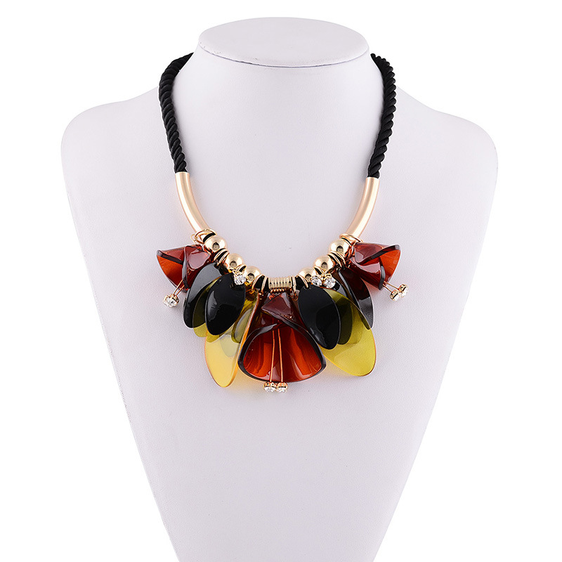 Collares 2016 ZA Necklace pendant famous brand jewelry resins