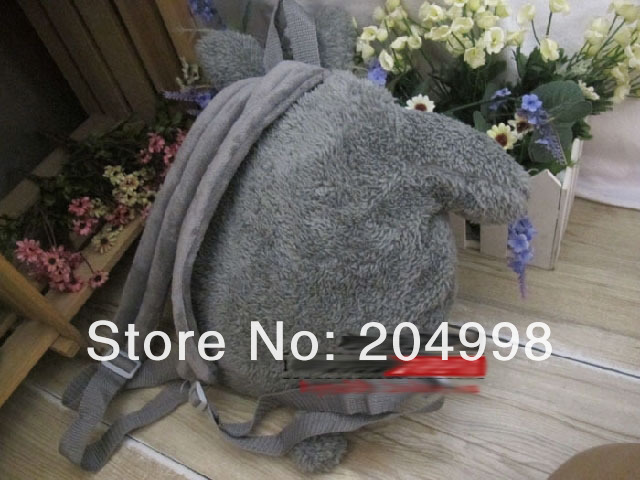 "Free shipping Cute My Neighbor TOTORO 13.8"" plush Toy School  BACKPACK Children bag"