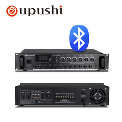 Oupushi MP-2180DU Public Broadcast Amplifier Audio 6 Zones Independent Volume Control  180W with Bluetooth/MP3/USB