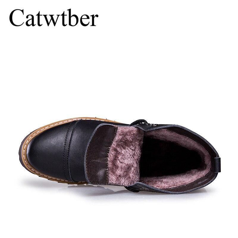 Haute red La Black Chaussures Fur En Cuir De Qualité Escalade Brown Chaud black dark Air Plus No Fur Randonnée Hiver Catwtber Fur Taille Bottes Imperméable Fur Plein Hommes zwaqnag6S