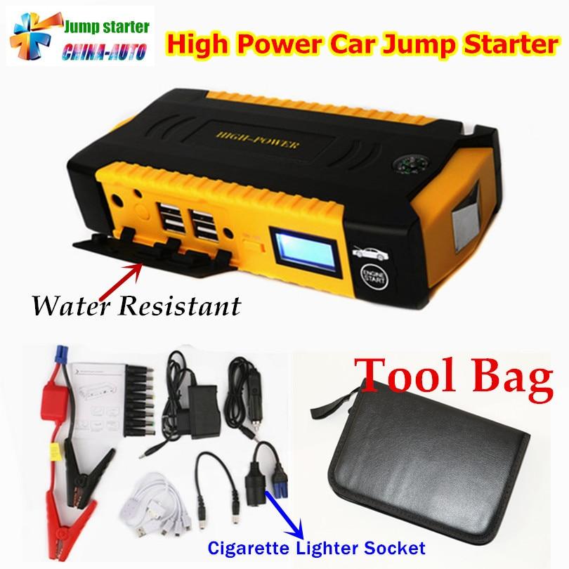 Portable Car Jump <font><b>Starter</b></font> 16000mah Power Bank Emergency Auto Battery Booster Pack Vehicle Jump <font><b>Starter</b></font> Better Than 68800mah