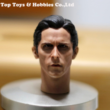 цена на 1/6 Scale Christian Bale Batman Man Head Sculpt Christian Bale head carved For 12 inches Male Muscular Body Collection Toys Gift