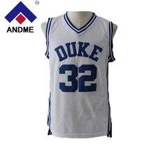 c6a65d056962 andme Throwback Basketball Jerseys 32 Christian Laettner Duke University  Blue Mens