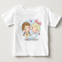 girls T shirt Short sleeve children t shirts for girl top clothes clothing Summer 100% Cotton Character Print summer girl shirt