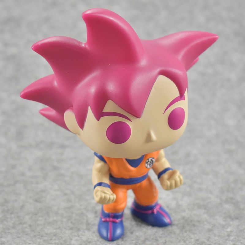 Funko pop Dragon Ball GOKU (SUPER SAIYAN) Vinyl Action Figure Coleção Modelo Brinquedos para Crianças presente de Aniversário