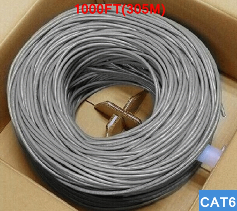 [ReadStar]TYF UTP CAT6 LAN CABLE 1000FT(305Meter) entire roll ethernet cable 4 pair 23AWG copper wires networking cable