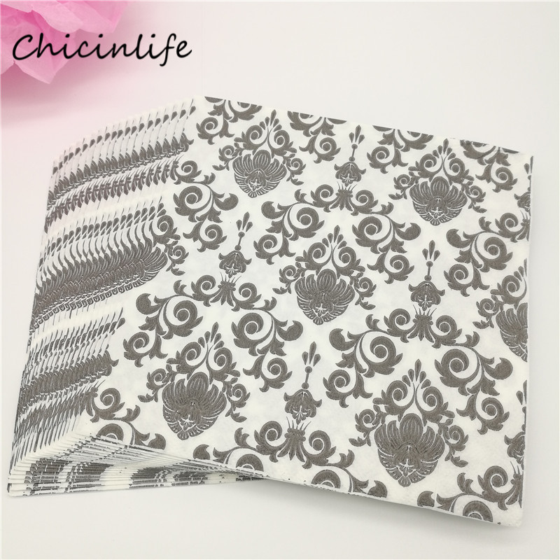 Chicinlife 20pcs lot Paper Napkins Decoupage Wedding Decoration Birthday Party Supplies Tissue Napkin Party Table Decoration