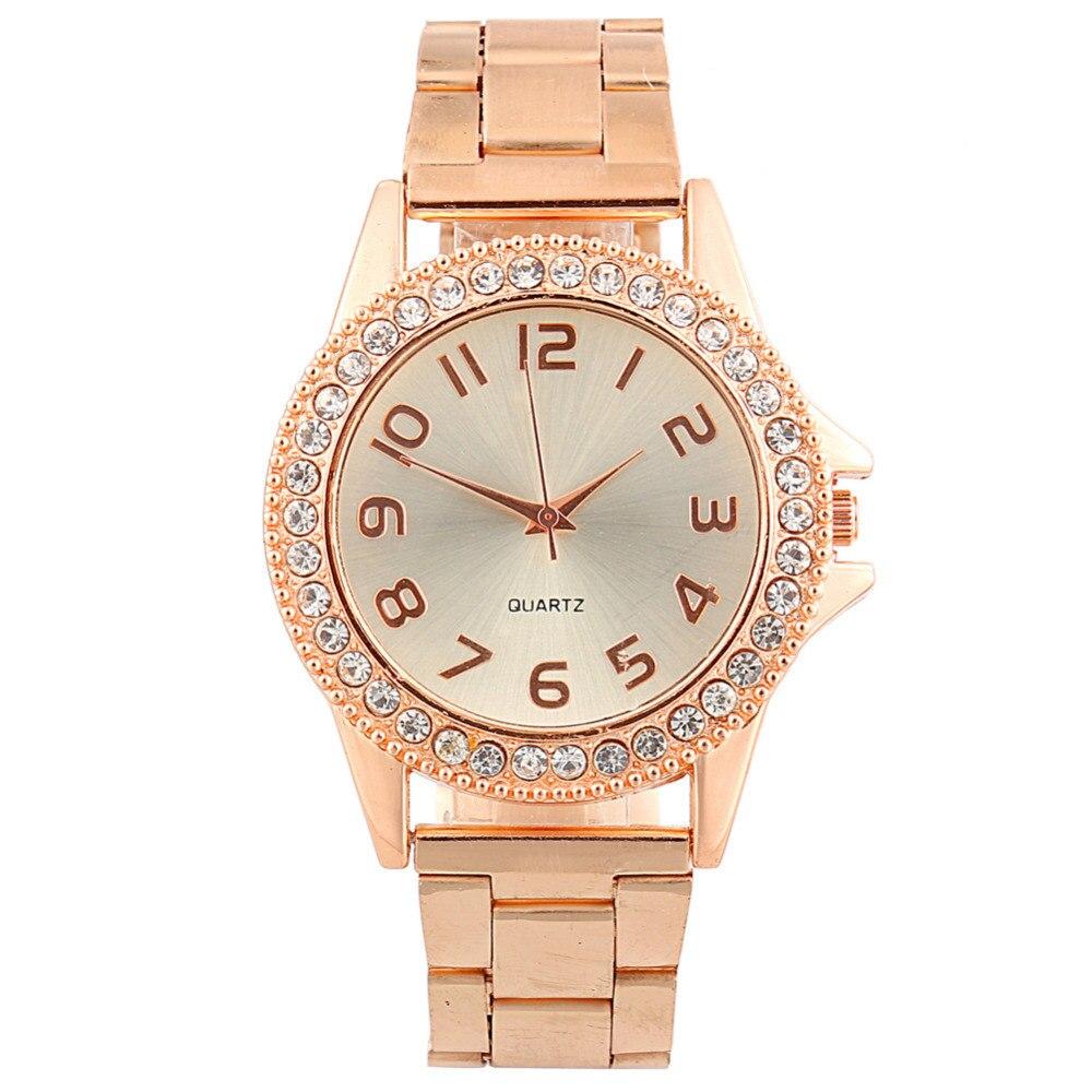 Zegarki Damskie 2018 New Fashion Classic Women Watch Luxury Crystal Stainless Steel Watches Ladies Casual Quartz Wristwatches