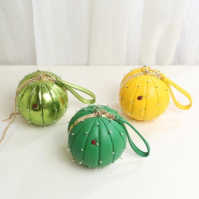 Для женщин сумка милый жук жемчуг украшения кактус Форма Сумки женский Повседневное Роскошные Сумки
