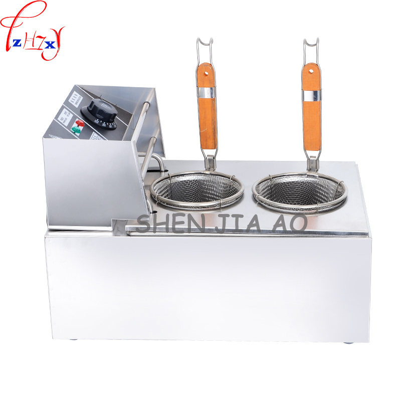 Commercial/Household 6L Stainless Steel Bench Top Electric Pasta Facial Machine Electrothermal Powder Cooker 220V MY-6LF 1pc cukyi household electric multi function cooker 220v stainless steel colorful stew cook steam machine 5 in 1