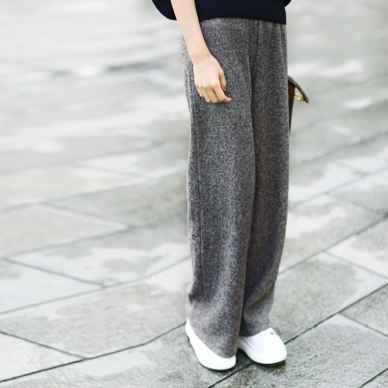 Pantalon Mujer femme Pantalon véritable Lulu Leggings nouveau Pantalon taille élastique drapé flocons de neige jambe large décontracté printemps et automne