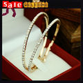 Fashion Rhinestone Gold Plated Large Earrings Fashion Jewelry ,Wholesale Round Large Big Hoop Circle Earrings for Women
