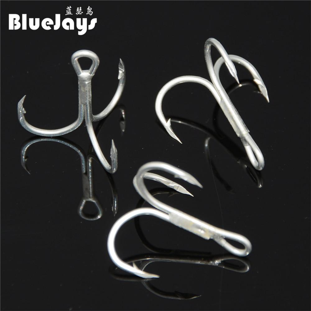 BlueJays 8pcs lot Fishing hook configuration blood trough treble hooks 1 2 4 6 8 10