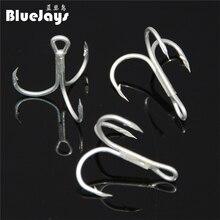 BlueJays 8pcs/lot Fishing hook configuration blood trough treble hooks 1 # 2 # 4 # 6 # 8 # 10 # anchors Hooks free shipping