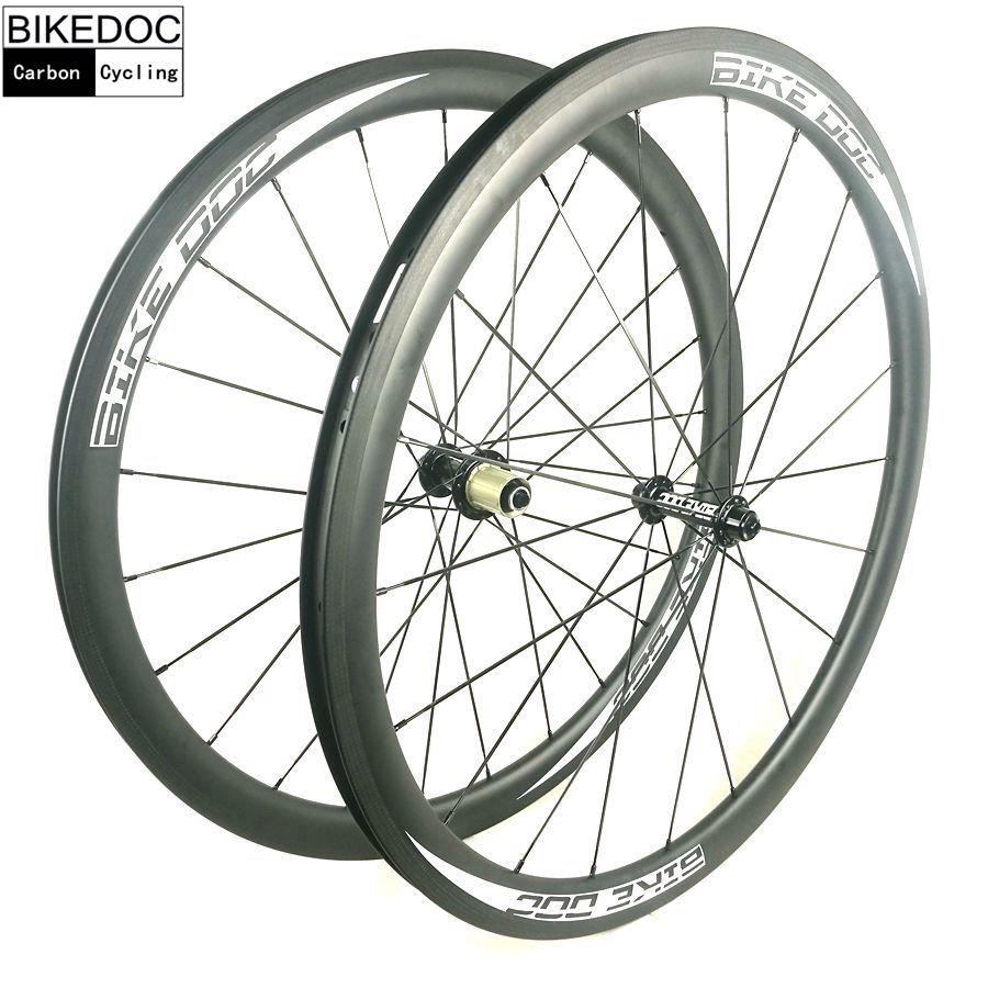BIKEDOC Carbon Wheels 38mm 45mm 50mm 60mm 88mm Carbon Bicycle Wheels 700C Road Bike Carbon Wheelset Clincher