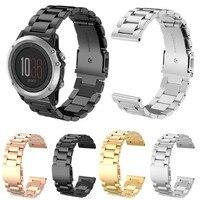 Montre bande pour garmin montre smart watch 26mm haute qualité En Acier Inoxydable Bracelet Bracelet Pour Garmin Fenix 3 Mode