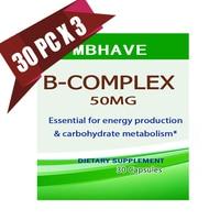 3 Bottles Vitamin B Complex High Strength All 9 B Vitamins Biotin B12 B Complex