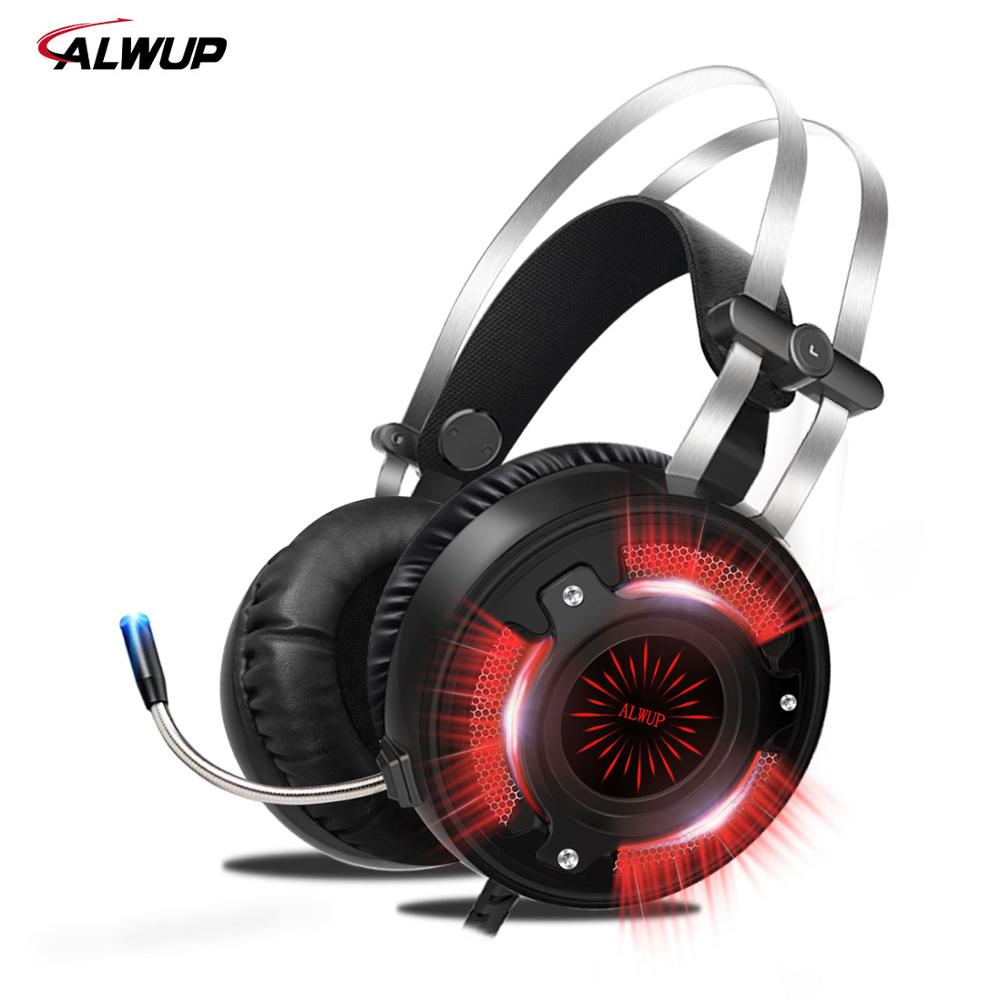 HD Bass <font><b>Gaming</b></font> Headphones for Computer PC Laptop Games Wired <font><b>Earphone</b></font> Led USB <font><b>Gaming</b></font> Headset for PS4 Xbox one <font><b>with</b></font> <font><b>microphone</b></font> image