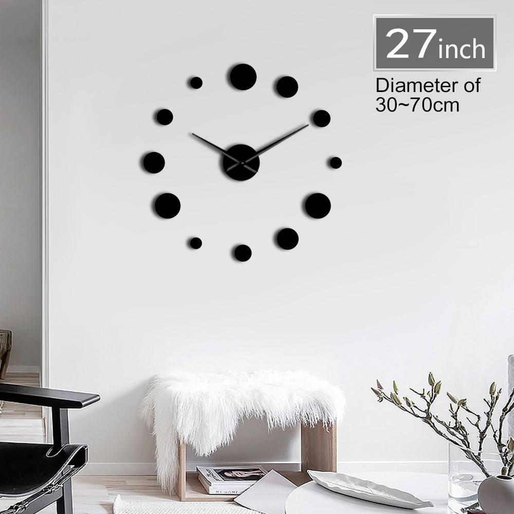 fdbdd6542 1 قطعة جولة DIY كبيرة Acylic ساعة حائط الحديثة تصميم بسيط جدار ووتش العملاق  3D مرآة فرملس ساعة حائط ملصق لتزيين المنزل ~ Top Deal July 2019