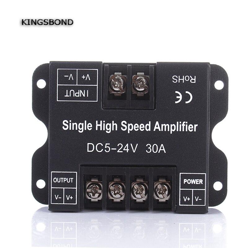 DC5V 12 V 24 V 30A Einfarbige LED Verstärker Daten Signal Repeater 1CH 1 Kanal Dimmer Leistungsverstärker für Weiße GEFÜHRTE Streifenlichter