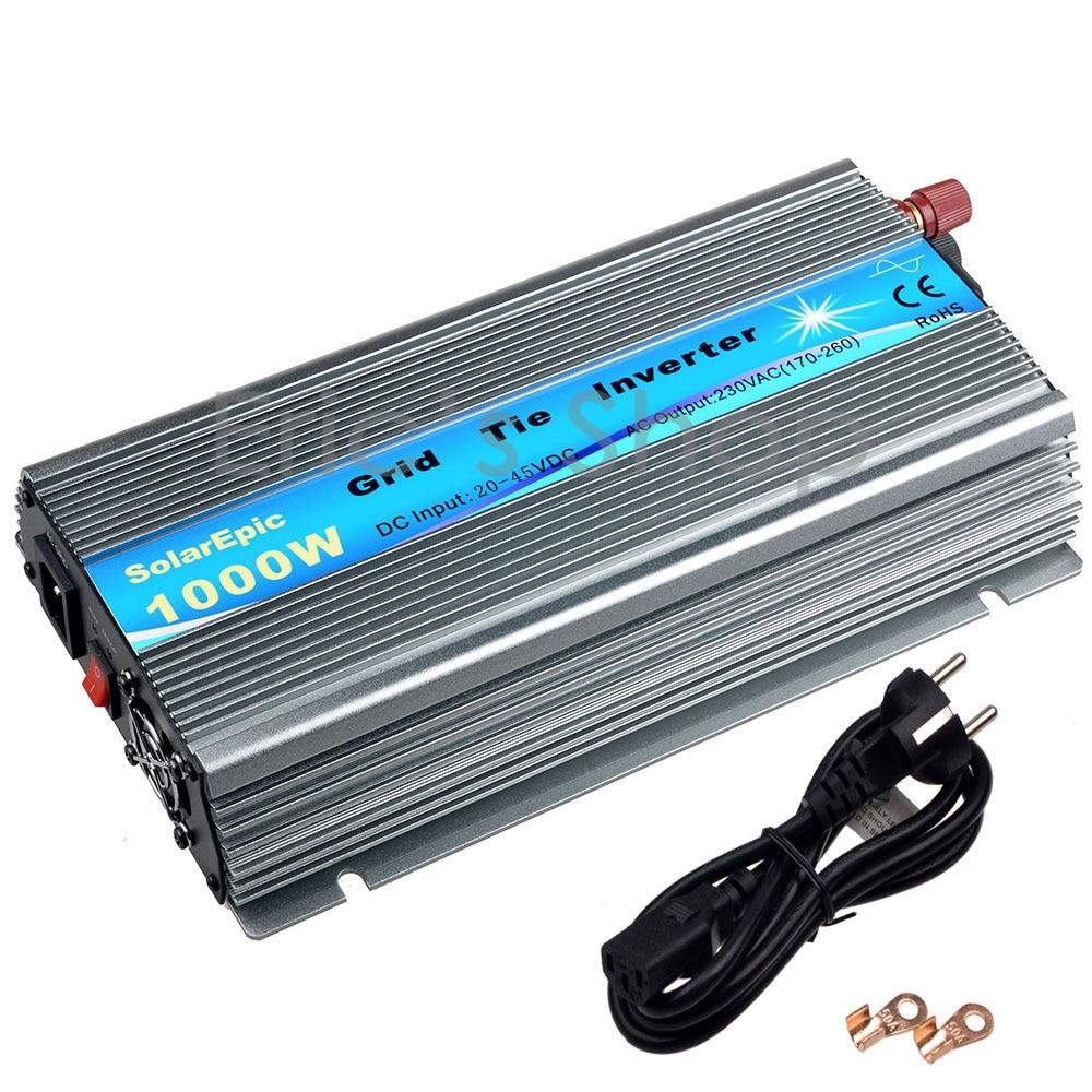 цена на 1000W Grid Tie Inverter DC20V-45V to AC220V Pure Sine Wave Inverter Fit For 24V/36V 60cells/72cells Solar Panel Solar Inverters