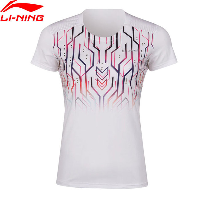 Li-Ning Women Badminton Competition T-Shirts Pocketable 81%Polyester 19%Spandex AT DRY LiNing Sports Tees AAYP044 WTS1492
