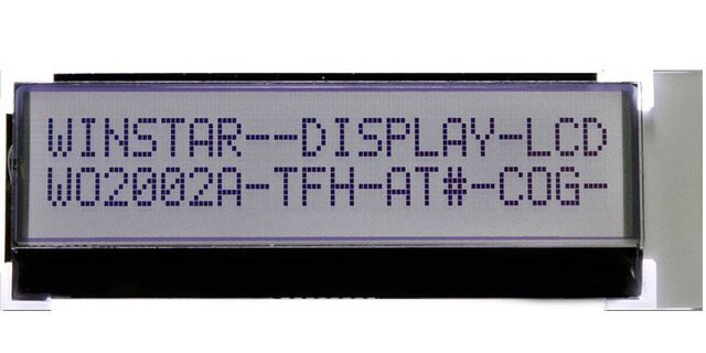 WO2002A-TFH-AT WINSTAR Character LCD Display releases a 20 characters x 2 lines standard COG LCD module ,New and original wh2004l winstar 24 characters by 2 lines character lcd display module is built in with st7066 controlle icscreen white backlight
