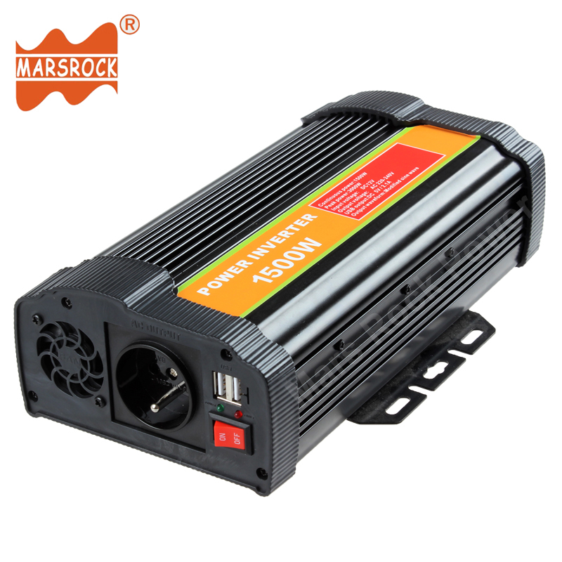 1500W 12V 24V DC to 110V 220V AC Off Grid Modified Sine Wave Sloar Power Inverter with USB Port for Home Office Hardware Digital