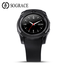 Sograce V9 Bluetooth Smart Watches 1.22″inch Smartwatch Support Sim Slot Camera Smart-Watch for Connectivity Android iOS Phone