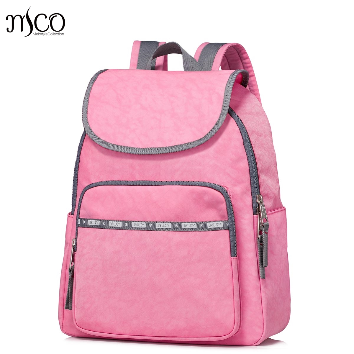 High Quality Women Nylon Waterproof Campus Backpack For Teenage Girls Student Collegiate School Travel PINK Backpack Laptop Bag high quality women nylon waterproof campus backpack for teenage girls student collegiate school travel pink backpack laptop bag