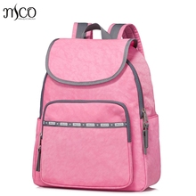 Высокое качество Для женщин нейлон Водонепроницаемый Кампус Рюкзак для подростков Обувь для девочек студент высшей школы путешествия розовый рюкзак сумка для ноутбука