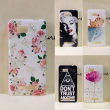 Para o caso de htc desire 400, pintado pc plástico rígido caso tampa do telefone para htc one su desejo 400 t528w