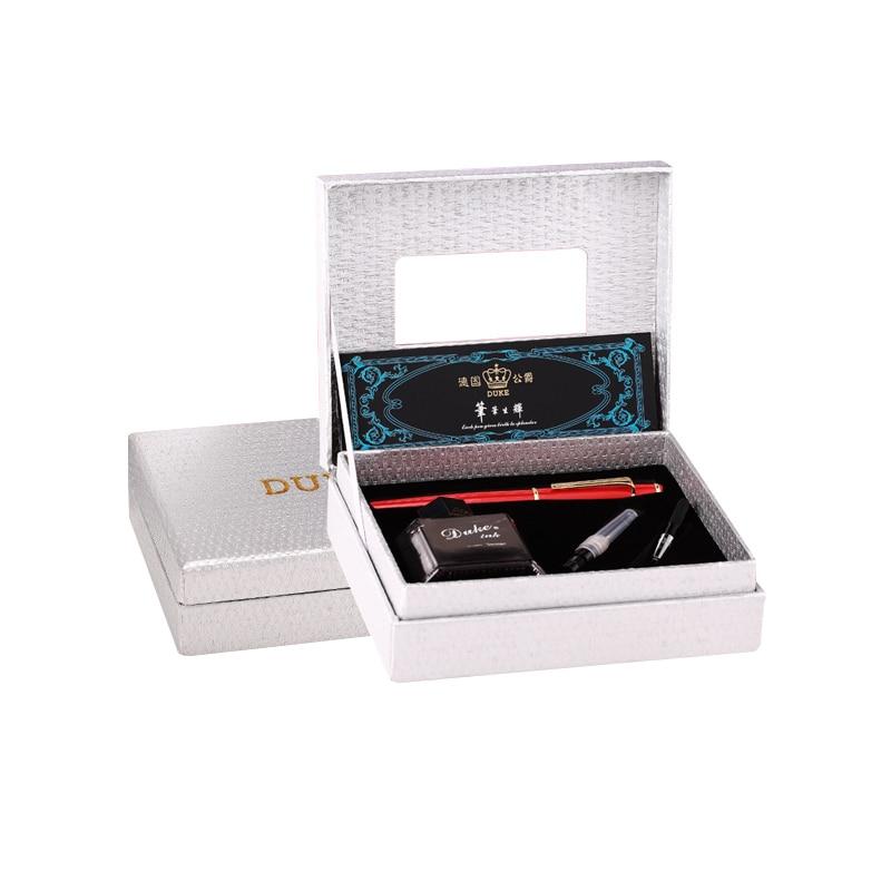 Haut de gamme Duke 0.5mm plume Fine stylo plume encre sertie de EF 0.38mm plume et boîte originale bleu gemme métal cadeau stylos pour femmes