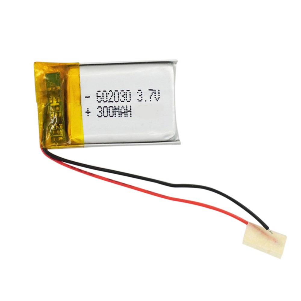 300mAh 3.7V Li po Polymer li ion Battery <font><b>602030</b></font> Battery for Bluetooth Pen Camera GPS MP3 MP4 MP5 Replacement Batteria Bateria image