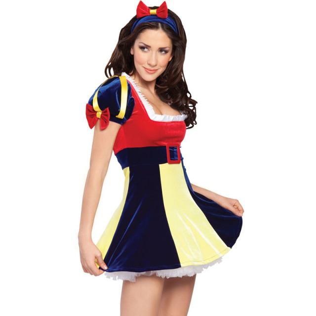Plus Size Snow White Costumes Halloween Carnival Costumes For Women Girls  Adult Princess Dress