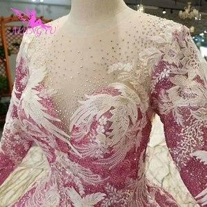 Image 4 - AIJINGYUมุสลิมชุดแต่งงานเม็กซิกันเจ้าหญิงลูกสั้นสีขาวเซ็กซี่ชุด2021 2020งานแต่งงานและชุดเจ้าสาว