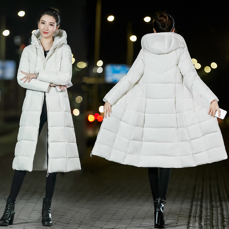 Orwindny 2018 Winter Coat Women Long Plus Size M-6XL Warm Clothing Casual Slim Down Cotton Padded Jackets Hooded Thick   Parkas