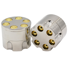 3 Layers Mental Herb Grinder Weed Bullet Shape Zinc Alloy Crusher Hand Muller for Smoke