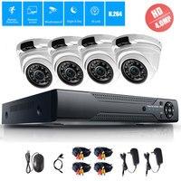 4MP 4CH Security CCTV System 4 0MP AHD Dome Outdoor Indoor Camera Waterproof Surveillance IR Night