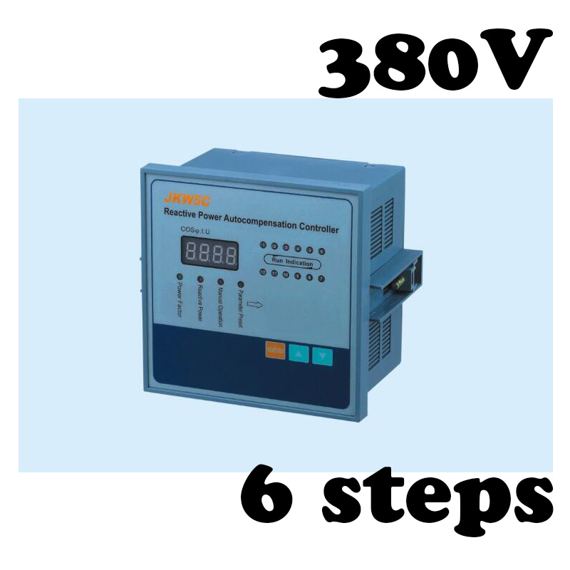 цена на JKW5C-6 Reactive power compensation controller for power factor capacitor 6steps 380v cos power
