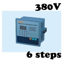 JKW5C-6 Reactive power compensation controller for power factor capacitor 6steps 380v cos power цены онлайн
