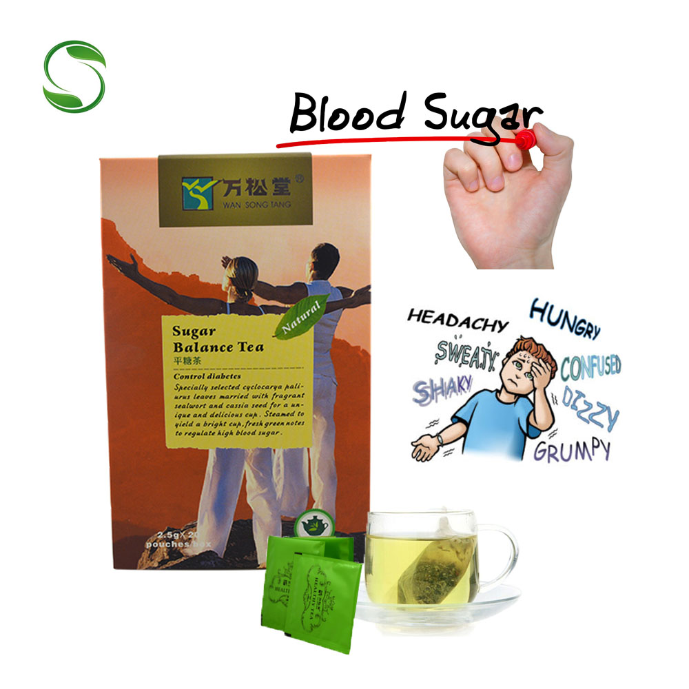 40 Pcs/2 Packs Blood Sugar Balance Tea Control Diabetes Tea Lower High Blood Sugar Blood Glucose Health Care Tea
