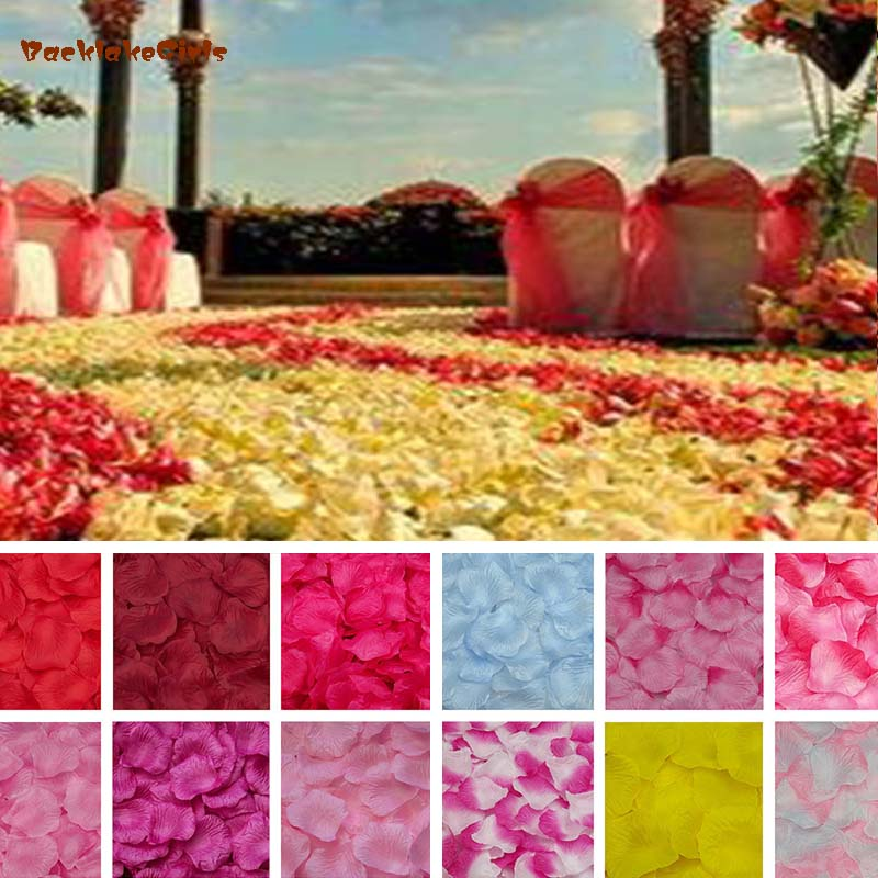 10000 Pcs Faux Silk Rose Petals Flower Mixed Artificial Girl Wedding Confetti Party Event Decorations Rose Petals 2018